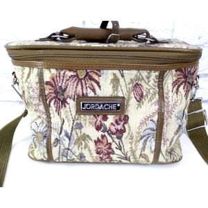 Vintage Jordache Tapestry Train Makeup Case